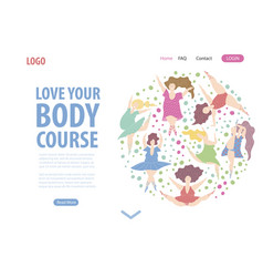 Body positive women page vector