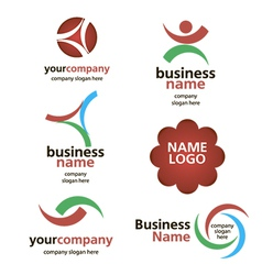 collection of logos spektorny vector image