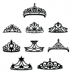 crown tiara vector image