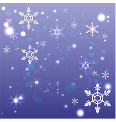 cute cartoon abstract snowflake vector image