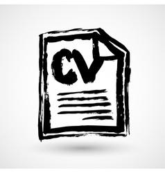 CV - Curriculum vitae resume grunge icon vector