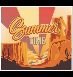 desert poster for summer time vector image