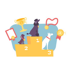 Dog competition composition vector