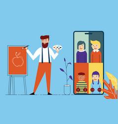 education at home art teacher training children vector image