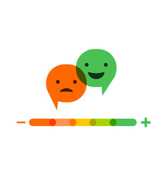 emoticons temperature scale with speech bubbles vector image