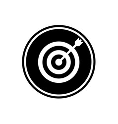 flat icon of target vector image