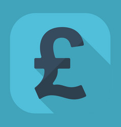 Flat modern design with shadow pound sterling vector