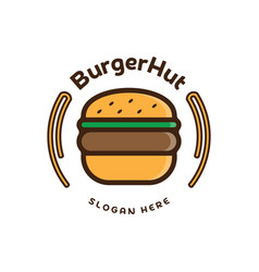 Food burger logo burger emblem design food logo vector