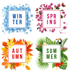 four seasons banners vector image