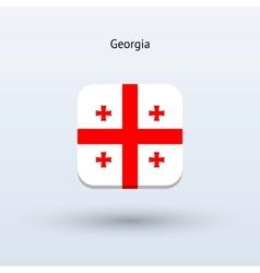 Georgia flag icon vector