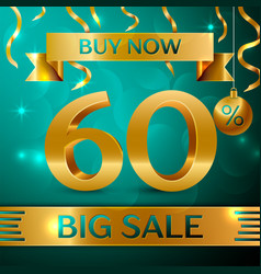 Gold big sale sixty percent for discount vector