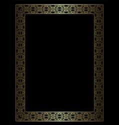 Golden openwork frame vector