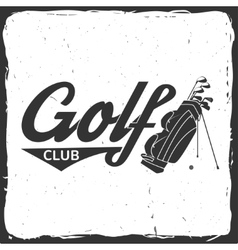 Golf club concept with golfing bag vector