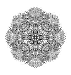 Graphic coral circle ornament vector