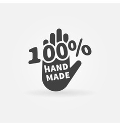 Hand made label or icon vector image