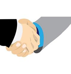 Hand shake professional vector