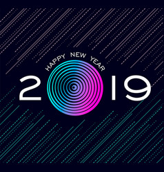 happy new year 2019 abstract technology design vector image