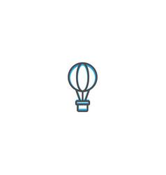hot air balloon icon design transportation icon vector image