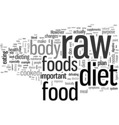 How to get started on a raw food diet vector