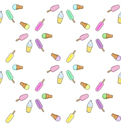 Ice cream popsicle frozen yogurt seamless pattern vector image