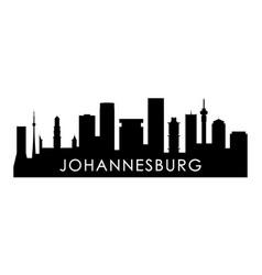 Johannesburg skyline silhouette vector