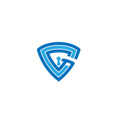 Letter g real estate logo design template vector