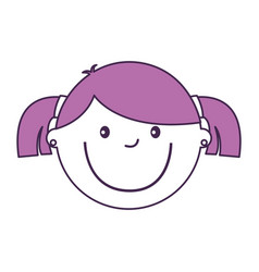 Little girl avatar character vector