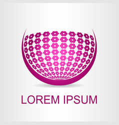 logo stylized spherical surface vector image vector image