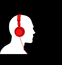 man listening to music with headphone vector image