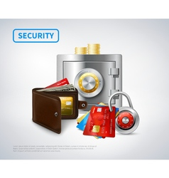 Money Realistic Security Set vector image