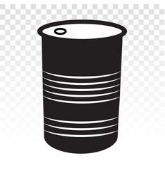 Oil drum container barrel iron steel drum flat vector