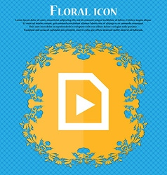 Play Floral flat design on a blue abstract vector