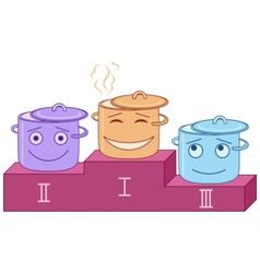 podium pots vector image vector image