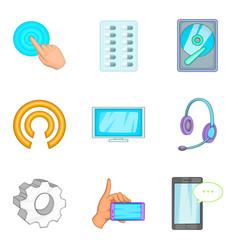 Radioelectronic icons set cartoon style vector