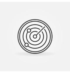 Radiolocation icon or logo vector image