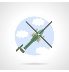 Reconnaissance helicopter flat color icon vector image