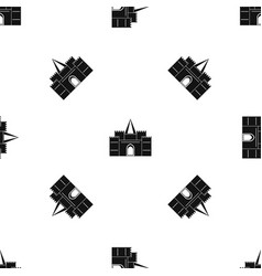 Residential mansion with towers pattern seamless vector
