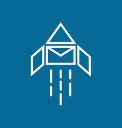 rocket mail logo vector image