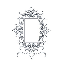 Rustic frame floral decoration crest object vector