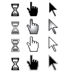Set of different cursors vector
