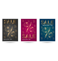 set posters for sale with percent sign and vector image