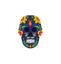 skull for dia de los muertos or day dead vector image