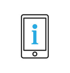 Smartphone icon mobile information vector