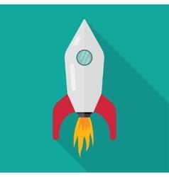 Space rocket ship start vector image