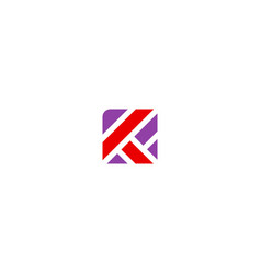 square shape k initial logo vector image