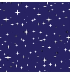 Starry night sky seamless pattern vector image