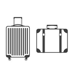 suitcase icon set vector image