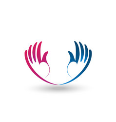 Support and hopeful hands logo vector