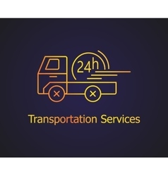 Transportation delivery service vector