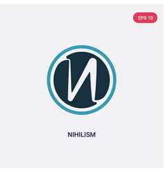 Two color nihilism icon from religion concept vector